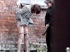 Two babes have a pee under spy control