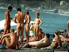 Hot beach nude bodies filmed on the sly