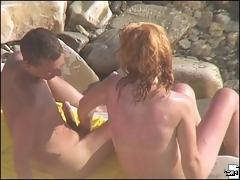 Full of sun and sex games of a naughty beach couple