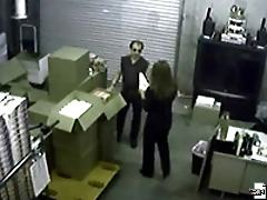 A bitchy boss gets on her knees to give head