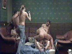Hidden cams film a swinger balling in private club